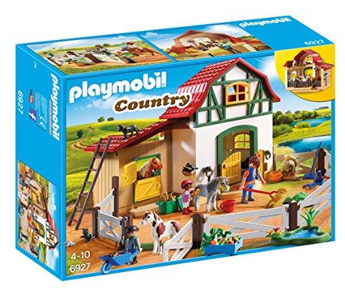 Playmobil Country 6927  Maneggio dei Pony con Animali e Fienile dai 4 Anni