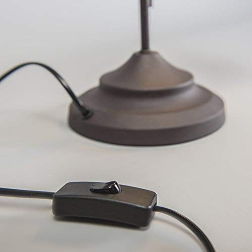 Reality Country Lampada da Tavolo Antic Curva E14 Ruggine metallo