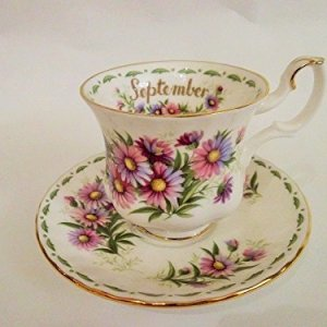 Tazza caff Flowers of the Months September