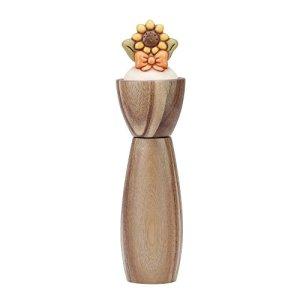 THUN Macinasalepepe Country girasole ceramica legno acciaio inossidabile 28 cm h