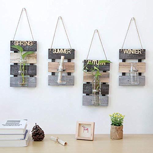Vaso decorazione da parete con tagliere in legno per appendere piante fiore appeso