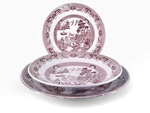 HH 825255 English Chintz Servizio Tavola 18 Pezzi Stoneware Decoro Rosa