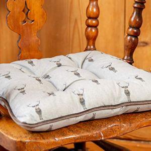 Lords  Labradors Sophie Allport Designer Tessuto Sedia da Pranzo CusciniSet di DueCuscini per sedie da Sala da Pranzo e Cucina Highland Stag