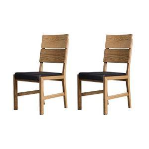 Marchio Amazon Alkove  Hayes  Set da 2 sedie per sala da pranzo in legno massello e con seduta imbottita in quercia selvatica