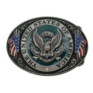YONE Fibbia per Cinture Great America Product Eagle USA Belt Buckle