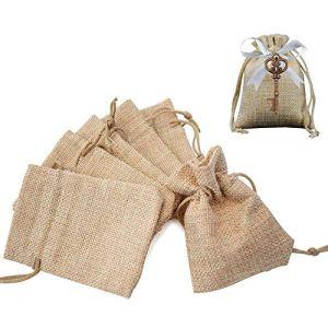 100pz Sacchetti Portaconfetti in Tela Bustina Bomboniere Confetti Piccoli per Matrimonio Battesimo Compleanno Regalo Gioielli