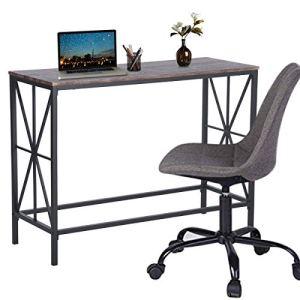 Aingoo Tavolo da Ingresso Industriale per Divano scrivania con Struttura in Metallo a Forma di X per Studenti Freelance 100  38  805 cm Marrone