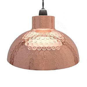 Amazonukkitchen Country Club Dappled paralume lampadario da soffitto a cupola metallo metallo Rame 26 x 15 cm