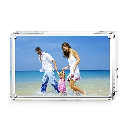 AMEITECH Cornice portafoto Magnetica Acrilico Transparent 10 x 15 cm
