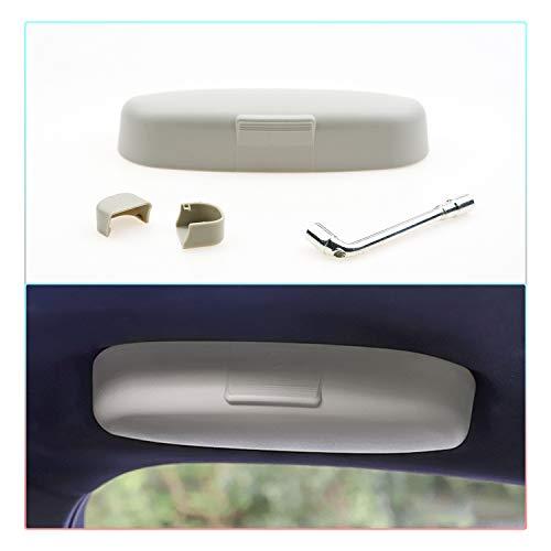 CDEFG Auto Custodia per Occhiali ABS Auto Anteriore Sunglasses Holder Box per Volvo XC90 V60 Portaocchiali Auto Grigio