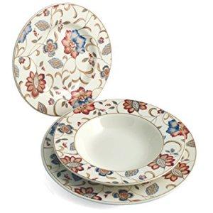 Churchill Jacobean Servizio Tavola 18 Pezzi Earthenware Decorato Stoneware Assortito 27x20x27 cm unit