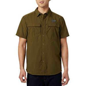 Columbia Cascades Explorer Camicia a maniche corte Uomo Verde New Olive XL Art 1586261