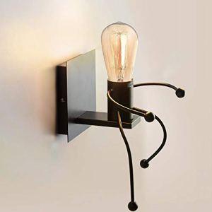 Cozihoma Creativo applique da parete E27 Iron interno lampada vintage apliques luce da parete interno moderno per CorridoioCamera da Letto Cucina Bar CaffRistorante