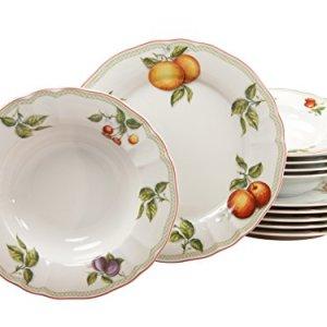 Creatable Flora Orchard da tavola da toletta di Porcellana Motivo Floreale Multicolore Set da 12