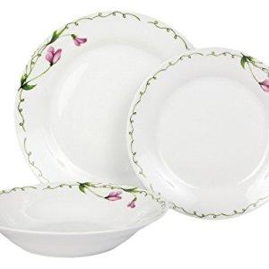 Dajar presilla 18Pezzi Servizio da tavola Dom OTTI Porcellana Bianco Rosa Verde 435x 105x 238cmunit