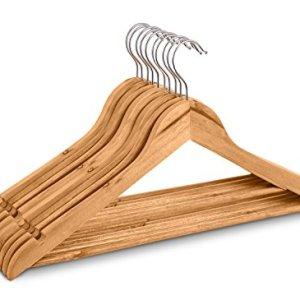Highliving Confezione da 20grucce Appendiabiti in Legno per Tute Pantaloni e Indumenti