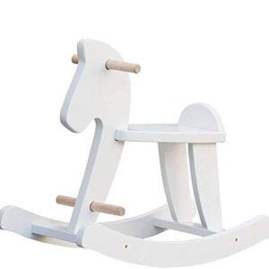 labebe Cavallo Dondolo Legno Bianco Classic Sedia Dondolo Bambini per 636 Mesi Giochi Cavalcabili BambiniDondolo Bambino Dondolo Neonati Elettrico Dondolo Cavallo Bianco