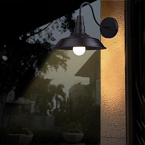 Lightess Lampada da Parete Interni Stile Vetro Industriale Applique Vintage con Attacco E27 60W Nero