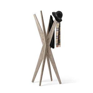 Mobili Fiver Appendiabiti da Terra di Design Emma Quercia 80 x 80 x 1705 cm Nobilitato Made in Italy Disponibile in Vari Colori