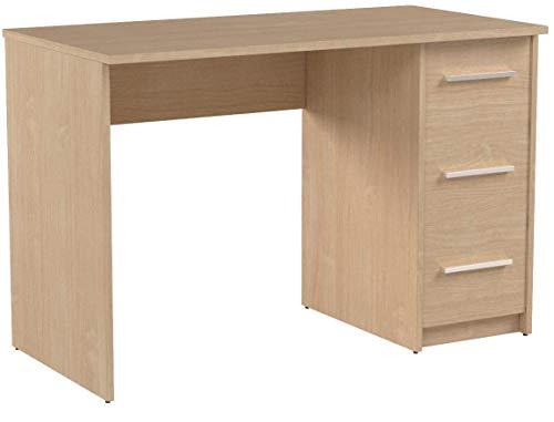 colore bianco scrivania con 3 cassetti in stile moderno 56 x 110 x 73,5 cm modello Idro Movian