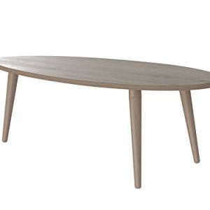 Movian tavolino ovale da caff in stile moderno modello Adour 55 x 110 x 39 cm  Effetto Quercia