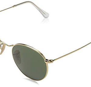 RayBan Unisex  Adulto Rb 3447 Occhiali da sole Oro Verde Classica 47 mm