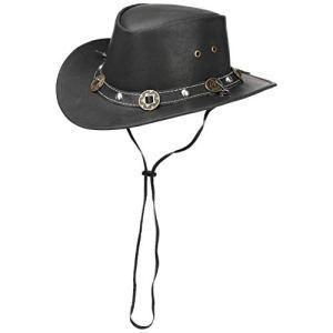 Scippis  Lederen hoed Concho  Nero L5960cm