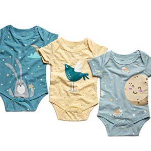 SIMMA Body per Neonato Unisex BambiniBambine 3 Set Abbigliamento Realizzato in bamb Organico Arriva in Confezione Regalo 36 Mesi