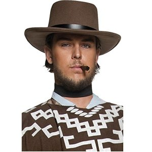 SMIFFYS Smiffys marrone Cappello da pistolero ricercato di una vera citt western decorazio Uomo Taglia unica 36336