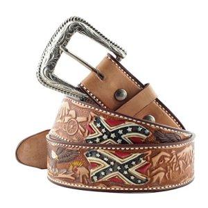Stars  Stripes cintura in pelle WG12 in stile western abbigliamento da cowboy di colore marrone Marrone marrone
