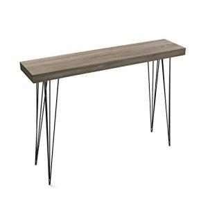 Versa 20361009 Tavolo da Ingresso Dallas Legno e Metallo 80x25x110 cm Nero