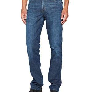 Wrangler Texas Contrast Jeans con la Gamba Dritta Uomo Blu Night Break 37W 38W  30L