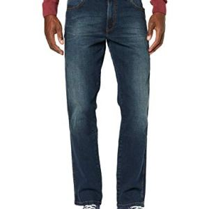Wrangler Texas Contrast Jeans con la Gamba Dritta Uomo Blu Vintage Tint 34W  32L