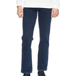 Wrangler Texas Contrast Jeans con la Gamba Dritta Uomo Blu Blue Black 001 48W  34L