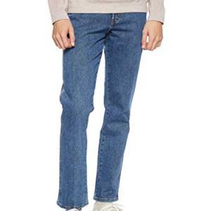 Wrangler Texas Contrast Jeans con la Gamba Dritta Uomo Blu Stonewash 010 46W  32L