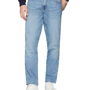 Wrangler Texas Contrast Jeans con la Gamba Dritta Uomo Blu Powder Blue 20h 32W  34L