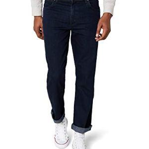 Wrangler Texas Contrast Jeans con la Gamba Dritta Uomo Blu Blue Black 002 48W  34L