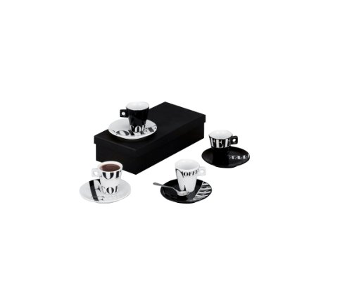 Zeller 26540 Set Tazzine da caff Coffee Style Porcellana Multicolore 01x6x63 cm 8 unit