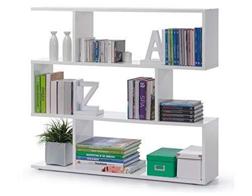 13Casa  Kafka A5  Libreria Dim 110x25x97 h cm Col Bianco Mat Melamina