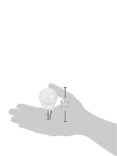 AmazonBasics Lampadina LED E14 a Sfera P45 55W equivalenti a 40W Luce Bianca Calda Pacco da 6