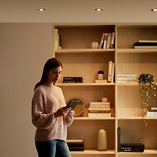 AmazonBasics Lampadina LED GU10 47W equivalenti a 50W Luce Bianca Calda Pacco da 6