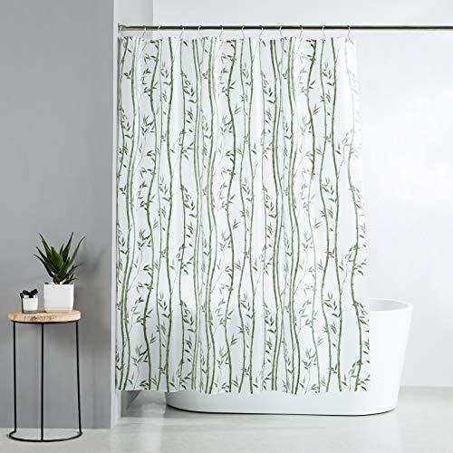 AmazonBasics  Tenda da doccia in polietilene vinil acetato media bamb 183 x 200 cm