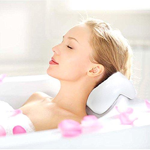 AnnSpa Cuscino di Bagno Vasca da Bagno Accessori Bagno Morbido con Ventosa Forte per Rilassare Testa e Collo