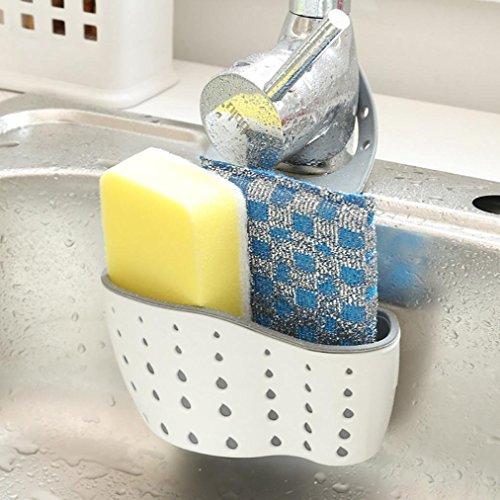 Apioffer  Cesto di scarico per utensili da cucina per lavandino spugna 1 pezzo Green
