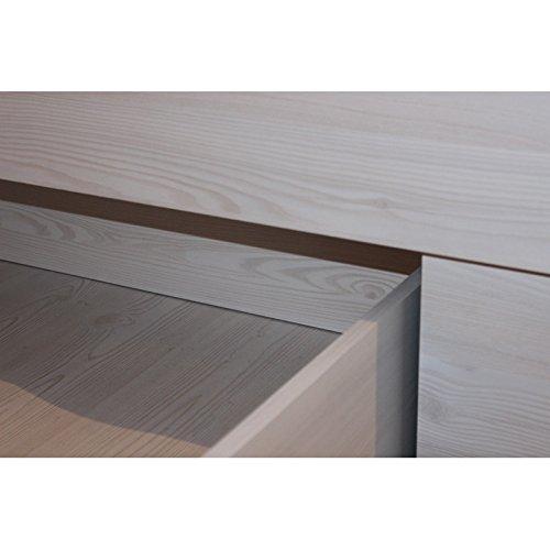 AVANTI TRENDSTORE  Luca  Struttura letto singolo con cassetto salvaspazio in laminato di pino biancotartufo in stile Vintage Dimensioni LAP 95x57x210 cm
