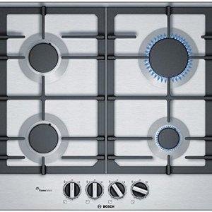 Bosch Serie 6 PCP6A5B90 piano cottura Nero Acciaio inossidabile Incasso Gas