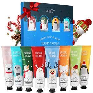 Crema Mani Luckyfine 8 pezzi Crema per le mani Kit crema riparatore mani per linverno Sapori stile kit di Natale 8  Lavanda rosa t verde ecc