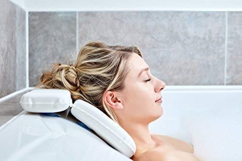 Cuscino Per Vasca  Migliori Cuscini Per Vasca Da Bagno Per La Testa E Il Collo Con 7 Tazze Di Aspirazione  Cuscino Di Lusso Per Il Sostegno Posteriore Completo Di Contenitore Di Regali Bello