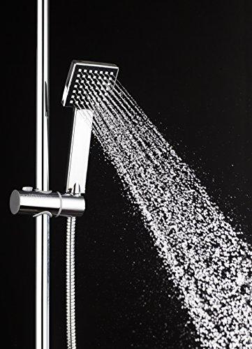 DP Bath  RYS002 Set Doccia Quadrato Acciaio Inossidabile Argento