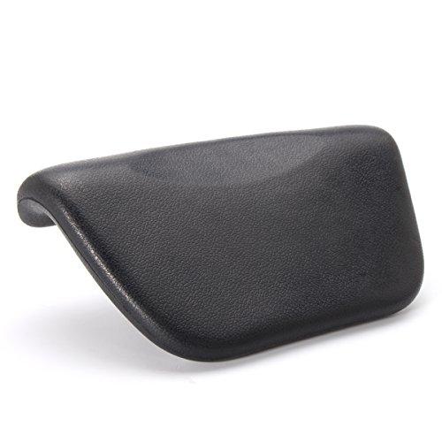 ESSORT Spa Bath Pillow Cuscino Vasca da Bagno PU da Bagno Cuscino Poggiatesta Ergonomico con Ventose Antiscivolo Home Spa per Testa Collo Schiena e Spalle 27 x 14 x 5 cm Nero